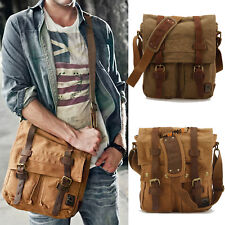 Men's Canvas Shoulder Bag Duffel Pack Travel Messenger Bag Daypack Crossbody Bag