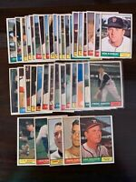 1961 TOPPS BASEBALL #1 thru #589 - PICK THE CARD(S) YOU NEED - FREE SHIPPING