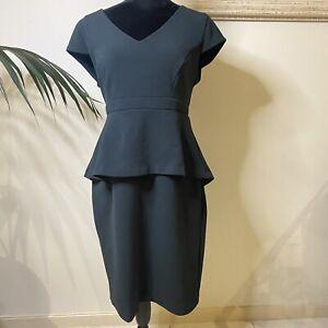 Jacqui E Dark Green Dress Size 14 M