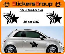 COPPIA ADESIVI STELLA FIAT 500  E TUTTE LE AUTO TUNING NEW