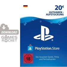 20€ PSN DE Playstation Network Code Card 20 Euro € EUR PS4 PS3 Vita Guthaben 50