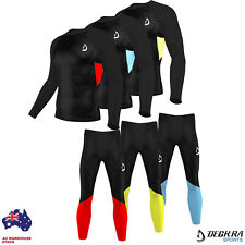 Deckra Mens Compression Armour Base layer Top, Skin Fit Shirt / Pants Tights set