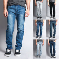 Victorious Men's Premium Washed Denim Pants Skinny Fit Stretch Jeans - DL1004