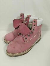 Womens Timberlands Pink Casual Walking Work Hiking Boots Size UK 5 #2Y1