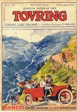 "TARGA VINTAGE ""COPERTINA TOURING CLUB 1908"" LOCANDINA STORICA, POSTER,AUTO EPOCA"