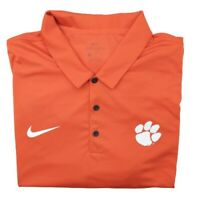 Nike Men's 2XL Orange Clemson Tigers Dri Fit Performance Golf Polo NCAA Tour