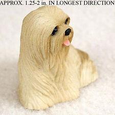 Lhasa Apso Mini Resin Dog Figurine Blonde