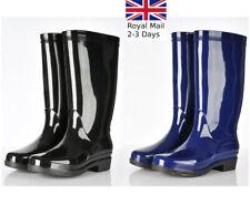 Ladies Women Classic Wellington Boots Rain Snow Waterproof Festival Wellies