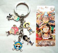 Anime One Piece Skeleton Skull Keyring Key Chain Pendant Cartoon Robin Chopper