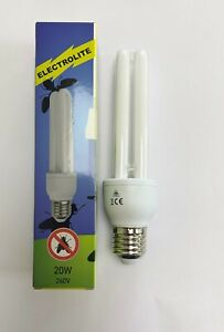 20W ES PLET Fly Killer E27 Blacklight FLY Attractor BL368 Tube - Pack of two