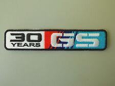BMW GS 30 YEARS PATCH TOPPA RICAMATO TERMOADESIVO CM 13X2,5