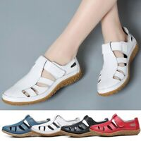 Women's Summer Hollow Out Casual Flat Shoes Breathable Comfy Closed Toe Sandals