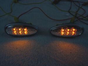 DEPO Clear Amber LED Side Marker Lights For 2003-2006 Mitsubishi Lancer Evo 8/9