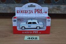 Poland Kolekcja PRLu Polski Fiat 125P MO Militia Police 1:43  Diecast Model FSO