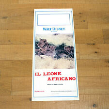 IL LEONE AFRICANO locandina poster affiche James Algar Disney 1955 Lion AH99