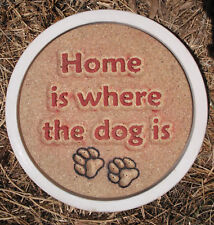 """Dog stepping stone mold  reusable concrete plaster resin casting 12"""" x 1.5"""""""
