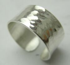 1/4 Inch Width sterling silve Toe Ring Hammered New Solid hand made/VartaniUsa