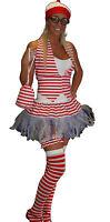 Red White Stripe Festival Tutu Accessories Nerd Geek Girl Fancy Dress Party  lot