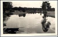 Prieros (Mark) Brandenburg DDR AK ~1957 Ausfahrt zum Spreewald Fluss Boot