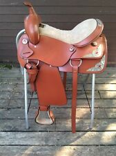 New - Silver King Western Saddle - Parade - Red Cross - 16 inch