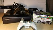 Microsoft Xbox 360 S Kinect Console Bundle 250GB Model 1439 + Games and Remotes