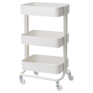 Raskog IKEA Home Kitchen Storage Utility cart (White) 203.829.32