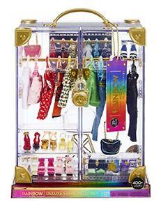 Rainbow High Deluxe Fashion Closet Playset 31+ Pieces Fashion Items Aug.13, 2021