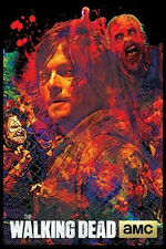 THE WALKING DEAD - DARYL COLLAGE BLACKLIGHT POSTER - 24X36 FLOCKED REEDUS 1960