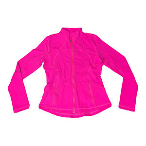 Lululemon Women's Full Zip Define Jacket Size 12 Pink Hot Pink