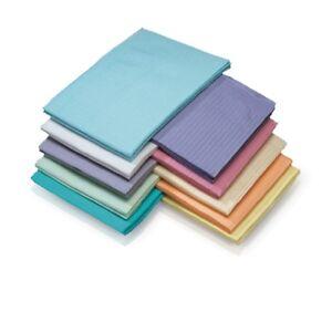 "DENTAL PATIENT BIBS BLUE - 13"" X 18"" - 4 CASES OF 500 2000 TOTAL"