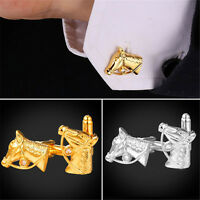 Cool Horse Head Shaped 18K Gold/Platinum Plated Suit Shirt Cufflinks for Men