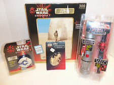 Lot of 4 Star Wars Episode I Toys Items- Puzzle Darth Maul Watch Sharpener Yo-yo