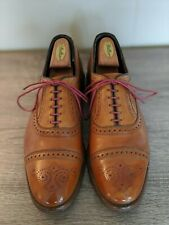 Allen Edmonds Cognac Leather Brogues for Brooks Brothers