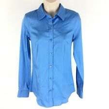 The Limited Women's Essential Shirt Cotton Stretch Button Down Size XS Tall NWT