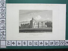 1824 DATED ANTIQUE YORKSHIRE PRINT ~ HORNBY CASTLE ~ SOUTH EAST VIEW