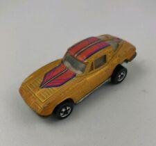 Vintage Mattel Hot Wheels Black Wall 1963 Gold Corvette Split Window HiRakers