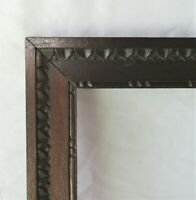 "Vintage Fits 9"" x 12"" Tramp Art Country Primitive Folk Art Carved Wood Frame"