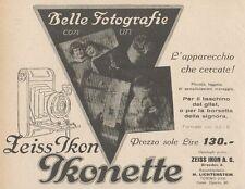 Z1833 Belle fotografie con ZEISS IKON Ikonette - Pubblicità d'epoca - 1929 Ad