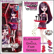 MONSTER High Ghoul Fair elissabat Bambola Elissa Bat vampiro + Vassoio Accessorio Nuovo