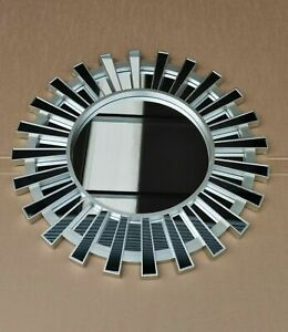 66cm Sunburst Panels Wall Mounted Mirror Large Home Decor Round Modern Vanity