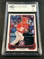 BRYCE HARPER 2012 BOWMAN DRAFT #10 ROOKIE CARD RC BGS BCCG GRADED 10