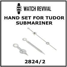 STAINLESS STEEL HAND SET FOR TUDOR SUBMARINER 2824/2 MOVEMENT 7900 SERIES UK