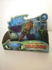 RARE How To Train Your Dragon Hidden World Eret And Skullcrusher Action Figures
