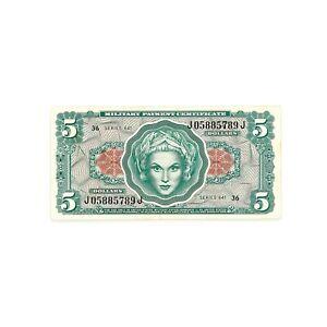 US MPC Series 641 5 Dollars xf+