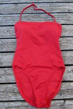 Newport News Swimsuit Red 8 Bathing Suit Swimwear Halter Padded Strapless