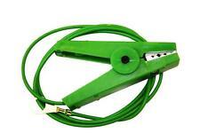 RECINZIONE Elettrificata Clip Coccodrillo-terra di piombo su verde COCCODRILLO Clip