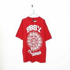 Vintage OBEY Big Logo Graphic T Shirt Tee Red | XL