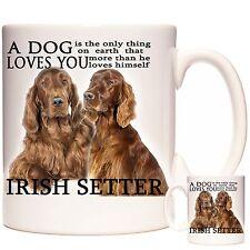IRISH SETTER gift mug, Can be personalised, Matching Coaster Available