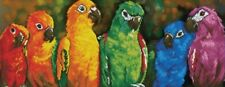 Diamond Painting Kit DOTZ Rainbow Colored Parrots 77 X 30cm Birds