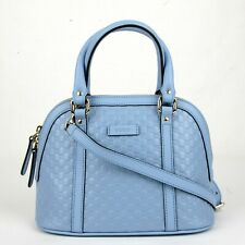 626c4d70b8b96c Gucci Light Blue Micro Guccissima Leather Mini Crossbody Dome Bag 449654